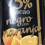 Chocolate negro con naranja (75% cacao)