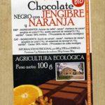 Chocolate negro jengibre y naranja