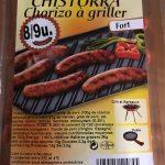 Chorizo a griller