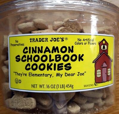 Cinnamon Schoolbook Cookies