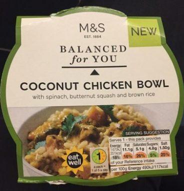 Coconut chicken bowl