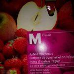 Compote de pommes et de fraises