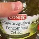 Concombres aux Fines Herbes
