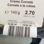 Cornets a la crème