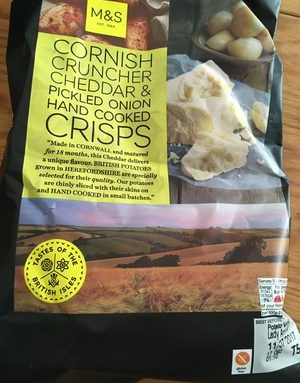 Cornish Cruncher Cheddar & Pickled Onion Hand Cooked