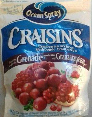 Craisins® infusées qui jus de grenade
