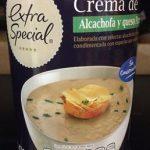 Crema de alcachofa y queso parmesano