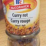 Curry rouge fort