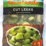 Cut Leeks quick frozen for freshness