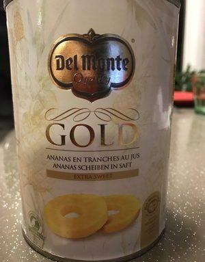 Del Monte Gold Ananasschijven Op Sap Extra Sweet (360 G)