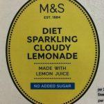 Diet sparkling cloudy lemonade