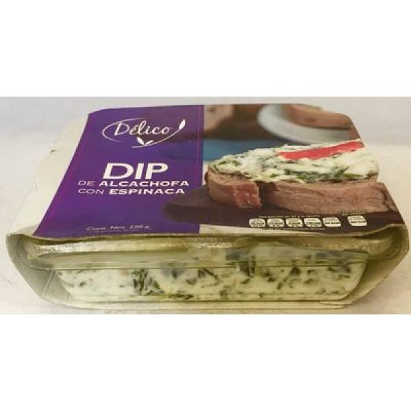 Dip de alcachofa con espinaca