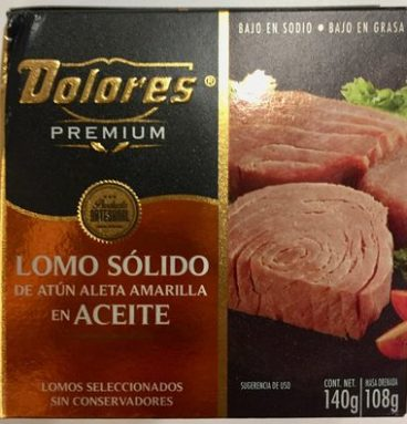 Dolores Premium Lomo sólido de atún aleta amarilla en aceite