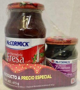 Duo Pack McCormik Mermelada de Fresa y Zarzamora