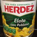 Elote con poblano Herdez
