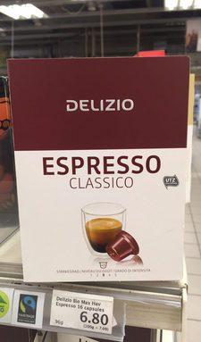 Espresso Classico café moulu en capsules 48 p.