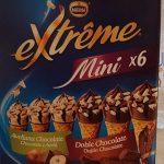 Extreme mini conos de helado de avellana y chocolate
