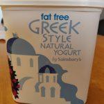 Fat free greek style yogurt
