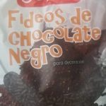 Fideos chocolate  negro
