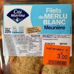 Filet de merlu blanc meunière
