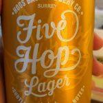 Five hop lager beer