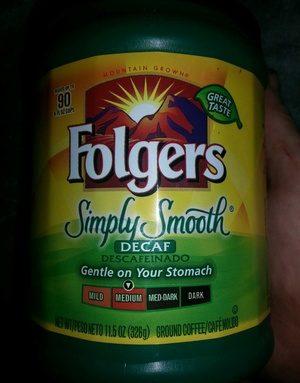 Folgers Simply Smooth Decaf (medium)
