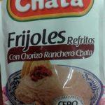 Frijoles refritos con chorizo ranchero Chata
