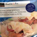 Fromage fondu en tranches