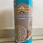 Galleta de arroz con quinoa y sal