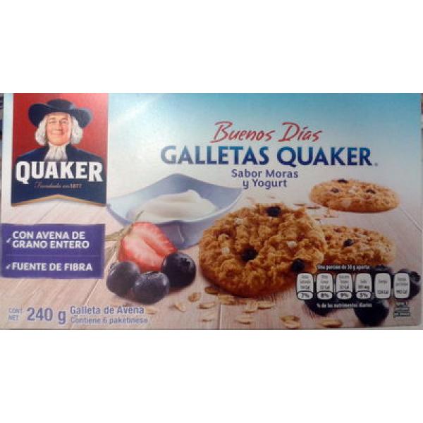 Galletas Quaker sabor moras y yogurt