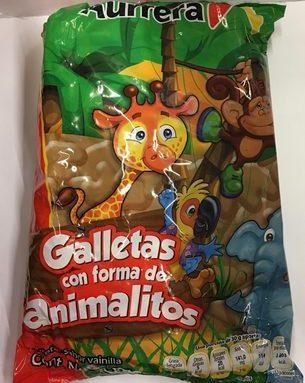 Galletas con forma de animalitos