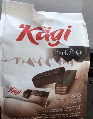 Gaufrettes dark chocolate