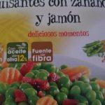 Guisantes con zanahoria y jamon