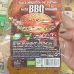 Hamburguesa de Seitán con salsa Barbacoa