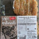 Hamburguesa de pollo con espárragos
