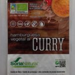 Hamburguesa vegetal al curry