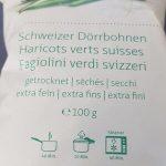 Haricots verts suisses