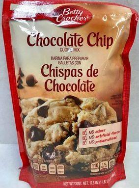 Harina para preparar galletas con chispas de chocolate