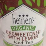 Heinen's Organic Unsweetened With Lemon  Iced Tea