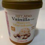 Helado Vainilla con Nueces Macadamia