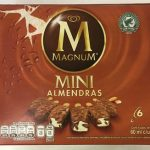Helado de vainilla mini con almendras Magnum