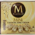 Helado sabor chocolate blanco mini cookies & cream Magnum