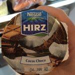 Hirz  Yogourt avec morceaux de chocolat et noix de coco