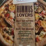Hummus lovers pizza
