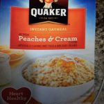 Instant Oatmeal - peaches and cream