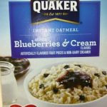 Instant oatmeal blueberries & cream
