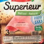 Jambon supérieur nature sans nitrite
