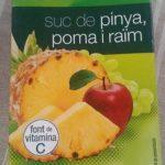 Jus d'ananas pommes et raisin