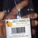 Jus d'orange 33cl