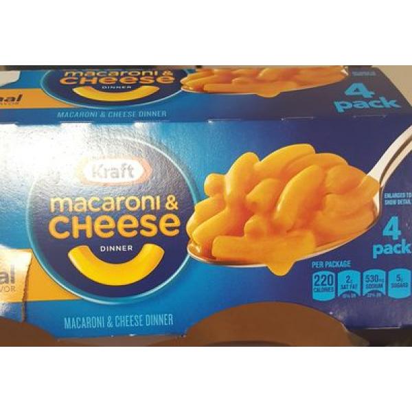 Kraft Macaroni & Cheese Dinner Cups Original Flavor - 4 CT